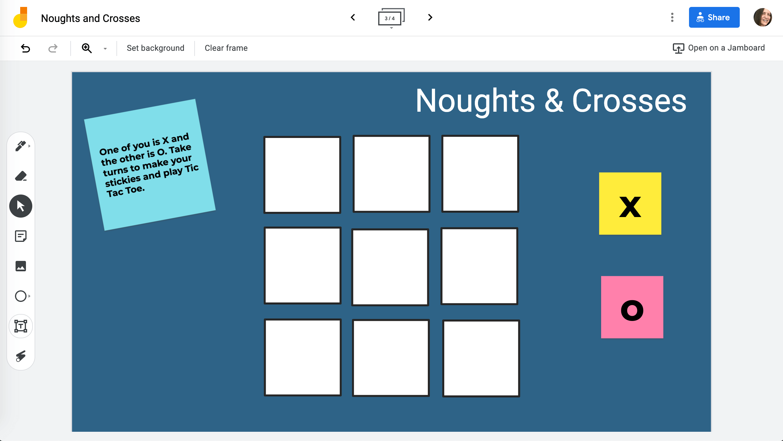 Noughts and Crosses games for primar