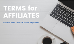 Affiliates terms for registration