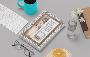 victorian journal colouring mockup